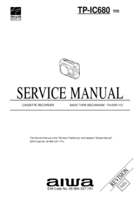 Manual de servicio Aiwa TP-IC680 YH1