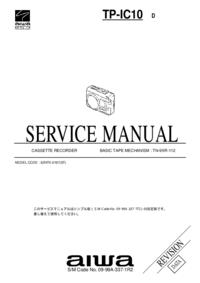 Руководство по техническому обслуживанию Aiwa TP-IC10 D