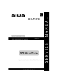 Service Manual Aiwa XH-A1000