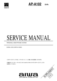 Service Manual Supplement Aiwa AP-A102 D<W>