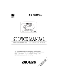 Service Manual Supplement Aiwa HS-RX695 [YJ]