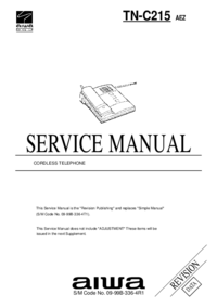 Manual de servicio Aiwa TN-C215 AEZ
