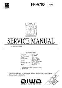 Service Manual Aiwa FR-A705 EZ(S)