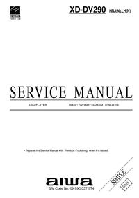 Manual de servicio Aiwa XD-DV290 LH(N)