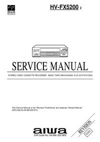 Manual de servicio Aiwa HV-FX5200 Z