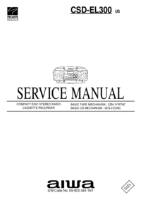 Service Manual Aiwa CSD-EL300
