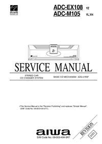 manuel de réparation Aiwa ADC-M105