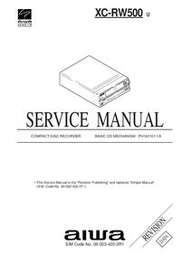 Manual de serviço Aiwa XC-RW500