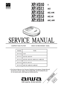 Manual de servicio Aiwa XP-V512