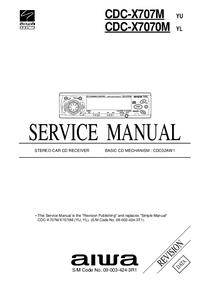 Instrukcja serwisowa Aiwa CDC-X707M