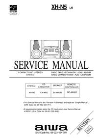 Serviceanleitung Aiwa XH-N5