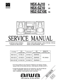 Service Manual Aiwa NSX-SZ10
