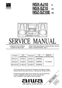 manuel de réparation Aiwa NSX-AJ10