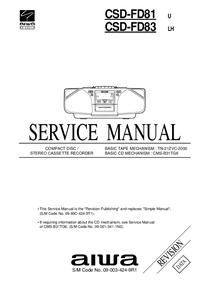 Servicehandboek Aiwa CSD-FD81