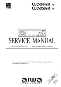 Manual de servicio Aiwa CDC-X447M