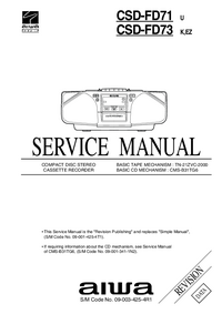 Service Manual Aiwa CSD-FD73