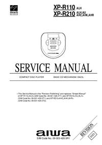 manuel de réparation Aiwa XP-R110