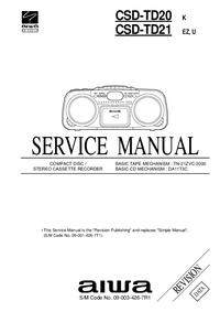 Instrukcja serwisowa Aiwa CSD-TD21