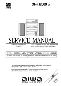 Service Manual Aiwa XR-H2000