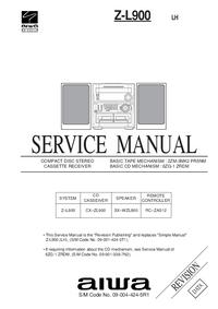 manuel de réparation Aiwa Z-L900