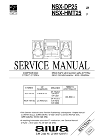 Manual de servicio Aiwa NSX-DP25