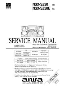 Manuale di servizio Aiwa NSX-SZ30