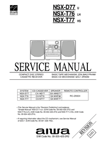 Service Manual Aiwa NSX-D77