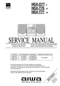 Manuale di servizio Aiwa NSX-T76