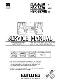 Manual de serviço Aiwa NSX-AJ70