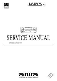 Manual de serviço Aiwa AV-DV75