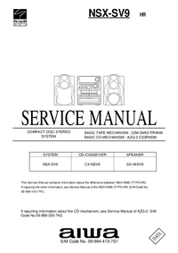 Service Manual Aiwa NSX-SV9