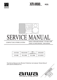 Manual de servicio Aiwa XR-M88