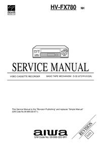 Instrukcja serwisowa Aiwa HV-FX780