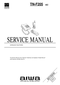 Service Manual Aiwa TN-F205