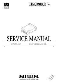 Manuale di servizio Aiwa TD-UM8000