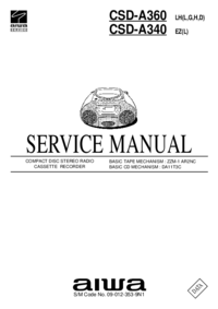 Manual de serviço Aiwa CSD-A340