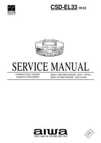 Servicehandboek Aiwa CSD-EL33