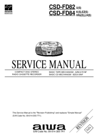 Servicehandboek Aiwa CSD-FD84