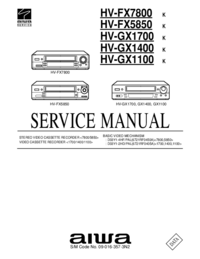 Service Manual Aiwa HV-FX5850
