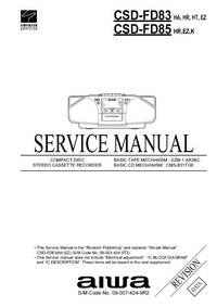 Service Manual Aiwa CSD-FD85