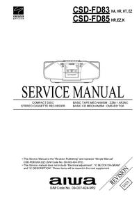 Manual de servicio Aiwa CSD-FD85