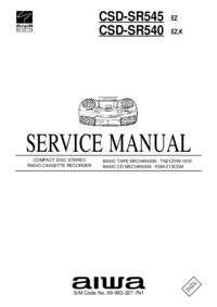 Service Manual Aiwa CSD-SR545