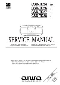 Manual de servicio Aiwa CSD-TD28
