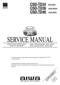 Manual de servicio Aiwa CSD-TD36