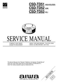 Instrukcja serwisowa Aiwa CSD-TD53