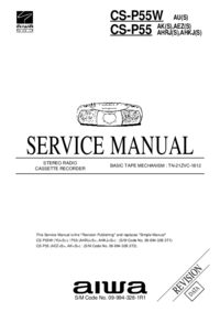 Service Manual Aiwa CS-P55W