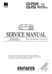 Manuale di servizio Aiwa CS-P55