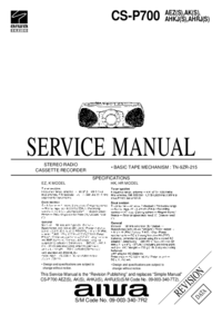 Manual de servicio Aiwa CS-P700