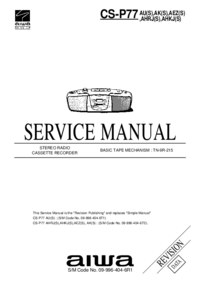 Manual de servicio Aiwa CS-P77
