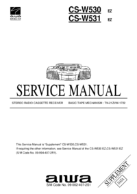 Service Manual Aiwa CS-W530